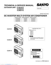 sanyo cm1972 19 700 btu ductless multi split air conditioner manuals rh manualslib com galanz split air conditioner manual mitsubishi split air conditioner manual