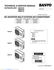 sanyo cmh3172 30 600 btu ductless multi split air cond heat pump rh manualslib com