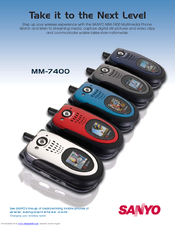 sanyo mm 7400 cell phone sprint nextel manuals rh manualslib com Sprint Sanyo SCP-3810 Sanyo Cell Phones