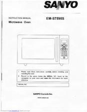 sanyo em s7595s instruction manual pdf download rh manualslib com