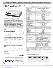 sanyo plc xw200 manuals rh manualslib com