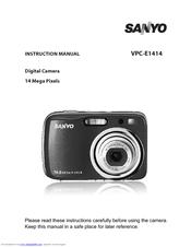 sanyo vpc s1414 manuals rh manualslib com Sanyo 14MP Digital Camera Sanyo 7.1 Mega Digital Camera