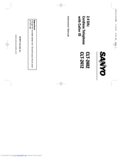 Sanyo CLT-2402 Instruction Manual