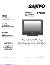 sanyo dp19648 owner s manual pdf download rh manualslib com Factory Service Repair Manual Makers Service Repair Manual
