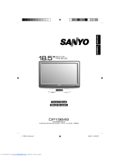 sanyo dp19649 720p 18 5 lcd hdtv manuals rh manualslib com sanyo integrated hdtv manual sanyo integrated hdtv manual