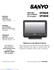 "Sanyo dp26648 26"" lcd tv manual."