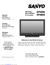 sanyo dp42848 owner s manual pdf download rh manualslib com sony owner manual download sanyo owners manual tv