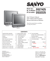 sanyo ds24425 manuals rh manualslib com Honda Service Repair Manual Manufacturers Auto Repair Service Manuals