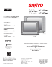 Sanyo Vizzon HT27546 Owner's Manual