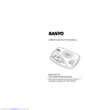 Sanyo DAS201 Owner's Instruction Manual