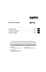Sanyo MVP-85 Instruction Manual