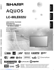 sharp aquos lc 80le632u manuals rh manualslib com sharp lc-80le632u user manual Sharp AQUOS
