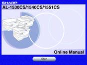 Sharp AL-1540CS User Manual