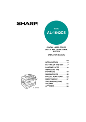 Sharp AL 1642CS - B/W Laser - All-in-One Operation Manual