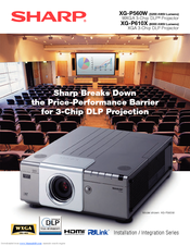 Sharp XG-P560W - WXGA DLP Projector Installation