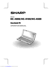 Sharp Mobilon HC-4500 Operation Manual