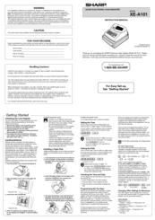 sharp xe a101 manuals rh manualslib com AIA A101 sharp xe-a101 cash register operation manual