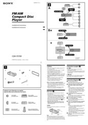 sony cdx f5700 fm am compact disc player manuals rh manualslib com