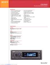 sony cdx f605x fm am compact disc player manuals rh manualslib com Sony Xplod CD Receiver Sony Xplod CD Receiver