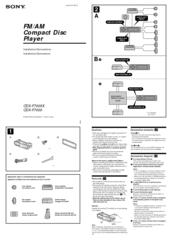 sony cdx f7005x fm am compact disc player manuals rh manualslib com