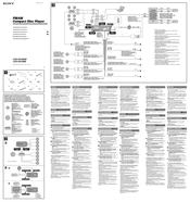 Sony CDX HS70MW Marine Stereo Manuals