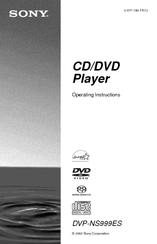 Sony DVP-NS999ES - Es Dvd Player Operating Instructions Manual
