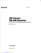 Sony STR-DA90ES Operating Instructions Manual