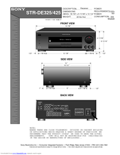 sony str de425 fm stereo fm am receiver manuals rh manualslib com sony str-dh100 stereo receiver manual sony str-de597 stereo receiver manual