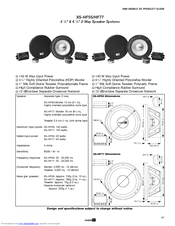 Sony XS-HF77 Product Manual