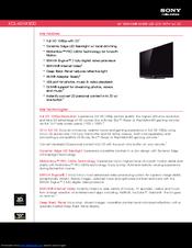 sony kdl 46hx800 46 bravia hx800 led backlit lcd hdtv manuals rh manualslib com Sony BRAVIA VGA Sony BRAVIA Connection Diagram