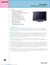 sony bravia kdl 46s2010 manuals rh manualslib com Sony BRAVIA Remote Manual Sony BRAVIA 46 Inch TV