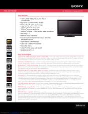 sony bravia kdl 46v5100 manuals rh manualslib com sony bravia kdl-46v5100 owners manual Sony BRAVIA Replacement Parts
