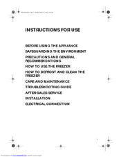 Whirlpool WV1600 Instructions For Use Manual
