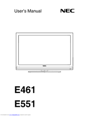 NEC E461-R User Manual
