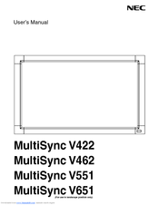 NEC V422-PC-CRE User Manual
