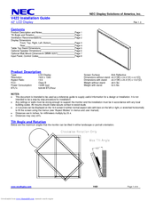 NEC V422-PC-CRE Installation Manual