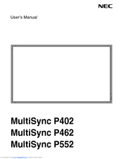 NEC P402-4YR-RR User Manual