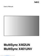 nec multisync x462un manuals rh manualslib com Clip Art User Guide User Guide Template