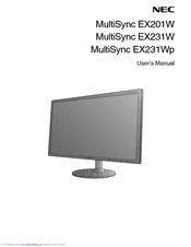 NEC EX201W-BK User Manual