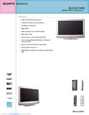 sony bravia klv 40u100m manuals rh manualslib com Sony Bravia TV Manual Sony BRAVIA 46 User Manual
