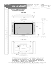 sony kde 42xbr950 42 xbr plasma wega integrated television manuals rh manualslib com sony wega 2005 manual sony wega manual reset