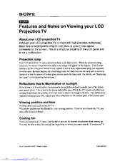 sony rear projection tv manual