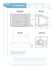 sony kv 34hs510 34 crt tv manuals rh manualslib com Auto Repair Manual Auto Repair Manual
