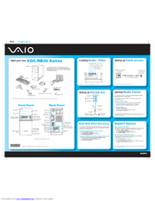 Sony VAIO VGC-RB39CP Quick Manual
