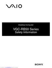 Sony vaio vgc-rb50