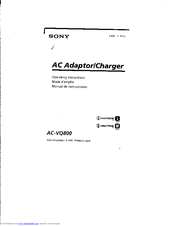 Sony ACV-Q800 Operating Instructions Manual