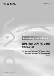 Sony PCWA-C100 Access Point Drivers for Windows Download