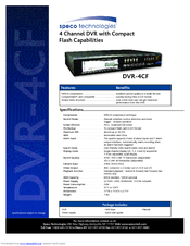 speco dvr 4cf manuals rh manualslib com Speco DVR 16 Channel Sales Speco Player