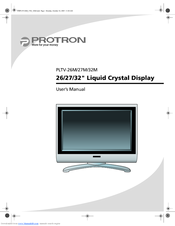 PROTRON PLTV-32M User Manual