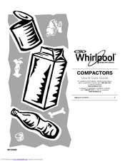 Whirlpool  GX900QPPQ Use And Care Manual